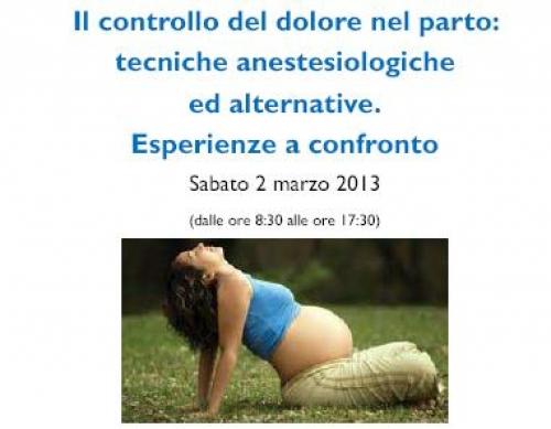 Il controllo del dolore nel parto: tecniche anestesiologiche ed alternative. Esperienze a confronto