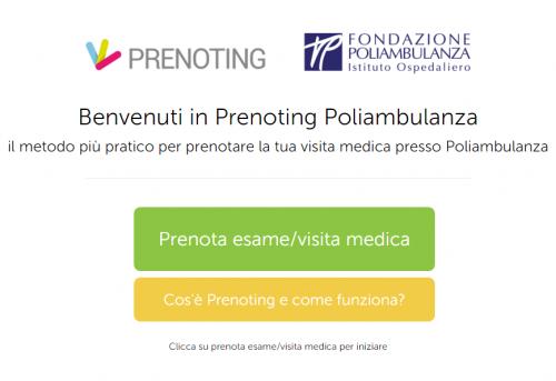 Con prenoting.poliambulanza.it prenoti con la ricetta elettronica