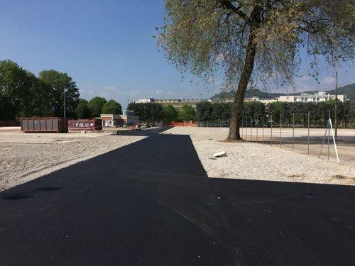 Nuovo collegamento ciclopedonale tra la fermata della metropolitana e Poliambulanza.