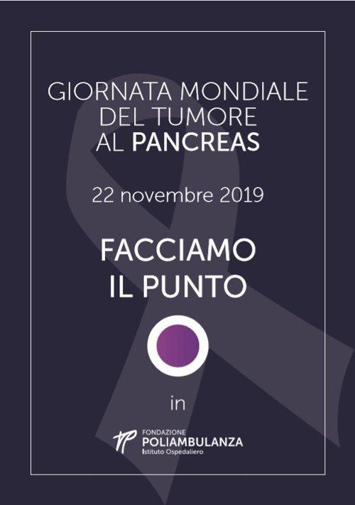 Giornata mondiale del tumore al Pancreas 2019