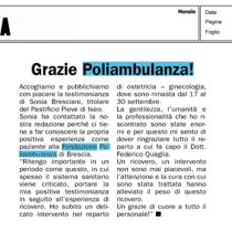 Grazie Poliambulanza!