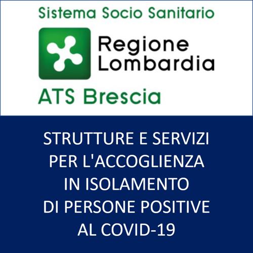 Strutture e servizi per l'accoglienza in isolamento di persone positive al covid-19